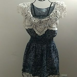 4 for $20 Minimi Blue Dress with Crochet Lace